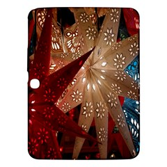 Poinsettia Red Blue White Samsung Galaxy Tab 3 (10 1 ) P5200 Hardshell Case