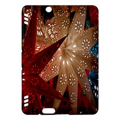 Poinsettia Red Blue White Kindle Fire HDX Hardshell Case