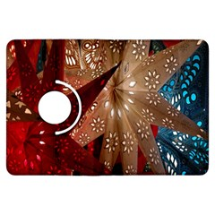 Poinsettia Red Blue White Kindle Fire HDX Flip 360 Case