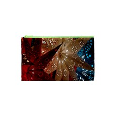 Poinsettia Red Blue White Cosmetic Bag (xs)