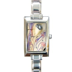 Pin Stripe Car Automobile Vehicle Rectangle Italian Charm Watch