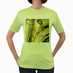 Pin Stripe Car Automobile Vehicle Women s Green T-Shirt