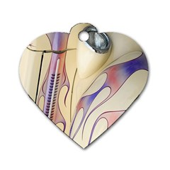 Pin Stripe Car Automobile Vehicle Dog Tag Heart (One Side)