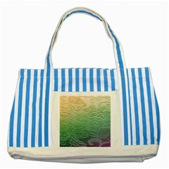Plants Nature Botanical Botany Striped Blue Tote Bag