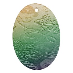 Plants Nature Botanical Botany Oval Ornament (two Sides)