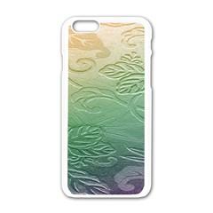Plants Nature Botanical Botany Apple iPhone 6/6S White Enamel Case