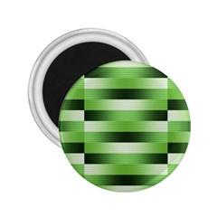 Pinstripes Green Shapes Shades 2.25  Magnets