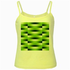Pinstripes Green Shapes Shades Yellow Spaghetti Tank