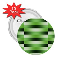 Pinstripes Green Shapes Shades 2.25  Buttons (10 pack)
