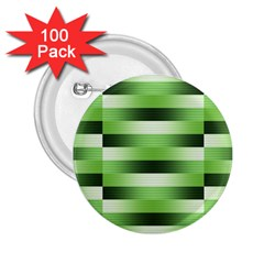 Pinstripes Green Shapes Shades 2.25  Buttons (100 pack)