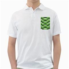 Pinstripes Green Shapes Shades Golf Shirts