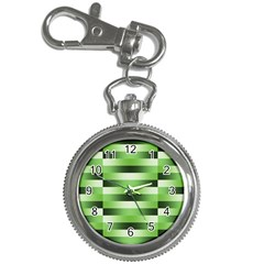 Pinstripes Green Shapes Shades Key Chain Watches