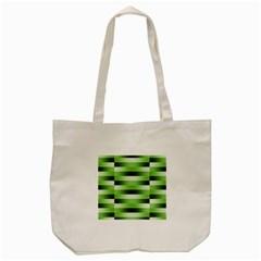 Pinstripes Green Shapes Shades Tote Bag (cream)