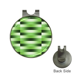 Pinstripes Green Shapes Shades Hat Clips with Golf Markers