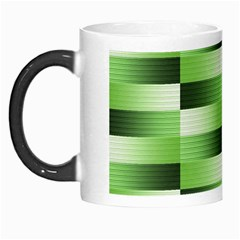 Pinstripes Green Shapes Shades Morph Mugs