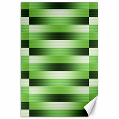 Pinstripes Green Shapes Shades Canvas 24  x 36