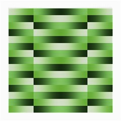 Pinstripes Green Shapes Shades Medium Glasses Cloth (2-Side)