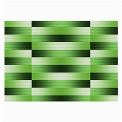 Pinstripes Green Shapes Shades Large Glasses Cloth (2 Side)