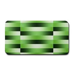 Pinstripes Green Shapes Shades Medium Bar Mats