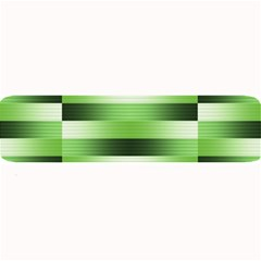Pinstripes Green Shapes Shades Large Bar Mats