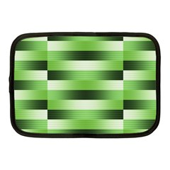 Pinstripes Green Shapes Shades Netbook Case (Medium)