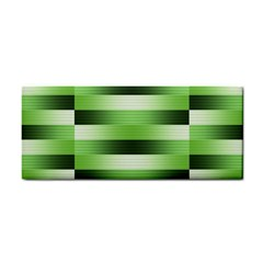 Pinstripes Green Shapes Shades Cosmetic Storage Cases