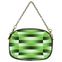 Pinstripes Green Shapes Shades Chain Purses (One Side)