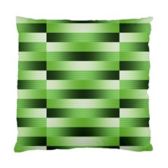 Pinstripes Green Shapes Shades Standard Cushion Case (Two Sides)