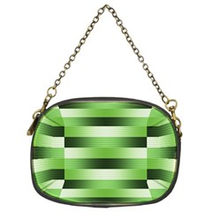 Pinstripes Green Shapes Shades Chain Purses (two Sides)
