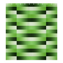 Pinstripes Green Shapes Shades Shower Curtain 66  X 72  (large)
