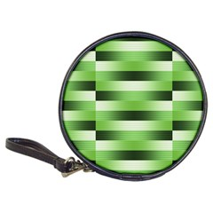 Pinstripes Green Shapes Shades Classic 20-CD Wallets