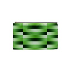 Pinstripes Green Shapes Shades Cosmetic Bag (Small)