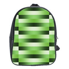 Pinstripes Green Shapes Shades School Bags(Large)