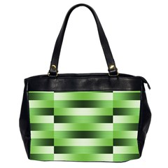 Pinstripes Green Shapes Shades Office Handbags (2 Sides)
