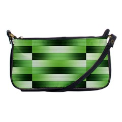 Pinstripes Green Shapes Shades Shoulder Clutch Bags