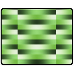 Pinstripes Green Shapes Shades Fleece Blanket (medium)