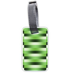 Pinstripes Green Shapes Shades Luggage Tags (two Sides)