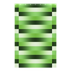 Pinstripes Green Shapes Shades Shower Curtain 48  x 72  (Small)