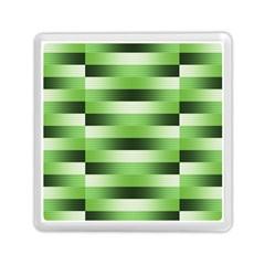 Pinstripes Green Shapes Shades Memory Card Reader (Square)