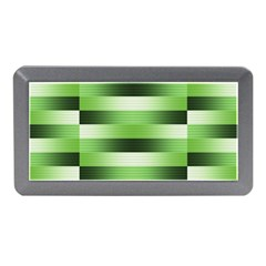 Pinstripes Green Shapes Shades Memory Card Reader (Mini)