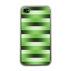 Pinstripes Green Shapes Shades Apple iPhone 4 Case (Clear)