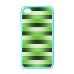 Pinstripes Green Shapes Shades Apple iPhone 4 Case (Color)