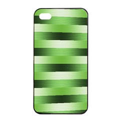 Pinstripes Green Shapes Shades Apple Iphone 4/4s Seamless Case (black)