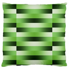 Pinstripes Green Shapes Shades Large Cushion Case (One Side)