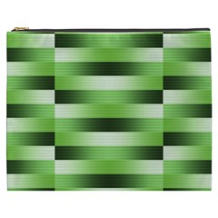Pinstripes Green Shapes Shades Cosmetic Bag (xxxl)