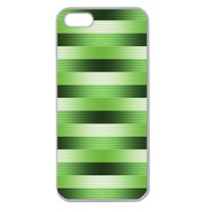 Pinstripes Green Shapes Shades Apple Seamless Iphone 5 Case (clear)