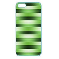 Pinstripes Green Shapes Shades Apple Seamless Iphone 5 Case (color)