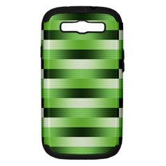 Pinstripes Green Shapes Shades Samsung Galaxy S Iii Hardshell Case (pc+silicone)