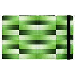 Pinstripes Green Shapes Shades Apple iPad 3/4 Flip Case