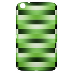 Pinstripes Green Shapes Shades Samsung Galaxy Tab 3 (8 ) T3100 Hardshell Case